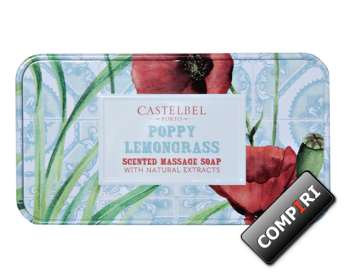 Castelbel - Massage Soap - Poppy & Lemongrass